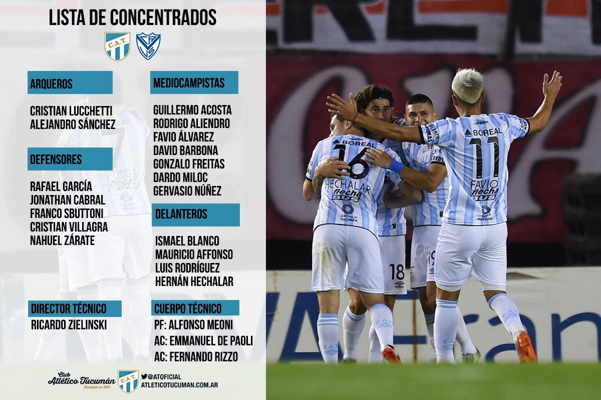 Vélez choca con Atlético Tucumán