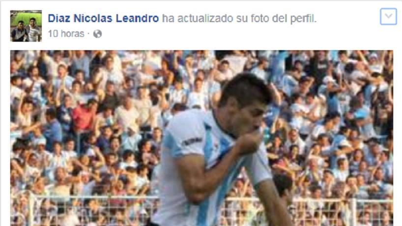 Díaz firmó para San Martín pero besó la de Atlético