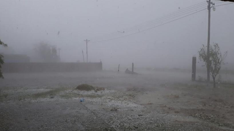 Fuerte tormenta de granizo afectó al Este de la provincia