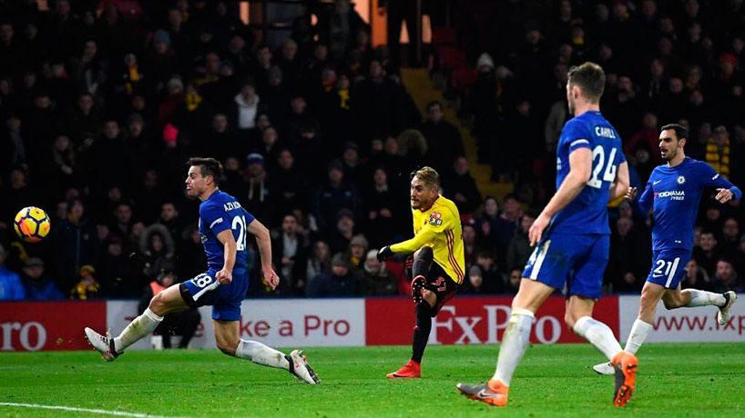 Goleada del Watford 4-1 sobre el Chelsea