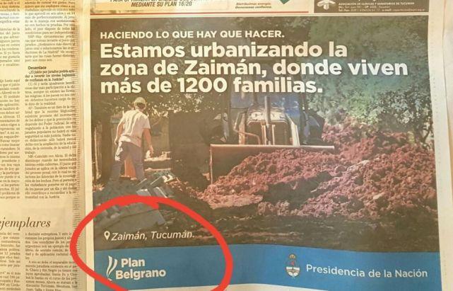 Cano promocionó una obra en Zaimán, Misiones, provincia de Tucumán — Papelonazo